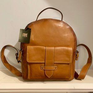 Frye Genuine Leather Olivia Backpack Tan